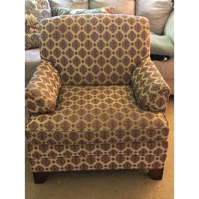 Ethan Allen Kilim Club Chair - Image 6 of 7