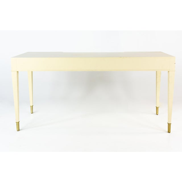 Antique White Barbara Barry for Baker Contemporary White Lacquer Desk For Sale - Image 8 of 13