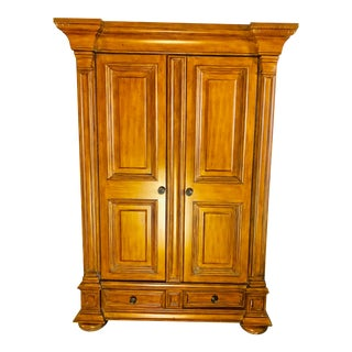 1970s Traditional Walnut Armoire For Sale