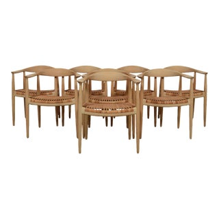 """""""The Chair"""" Hans Wegner Set of 8 by P P Mobler For Sale"""