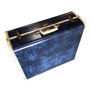 Vintage Navy Blue Suitcase