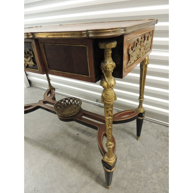 Vintage Reproduction of Louis XVI Style Center Table For Sale - Image 4 of 10