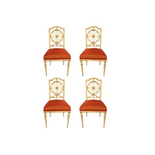 1800s Gustavian Dining Chairs - A Set of 4 For Sale