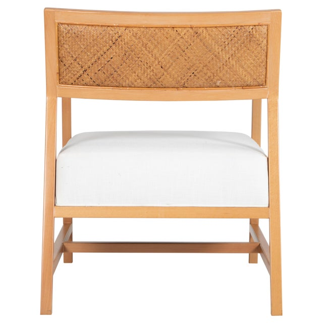 David Francis David Francis Furniture Metro Lounge Chair, Natural For Sale - Image 4 of 8