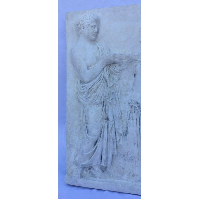 Vintage Hollywood Regency Greco-Roman Sculptural Wall Art - Image 5 of 11