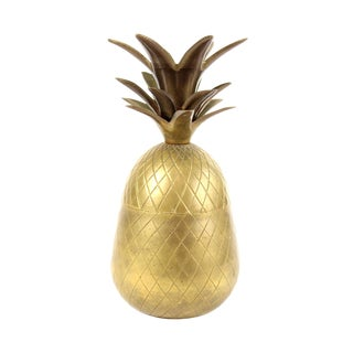 Brass Pineapple Container For Sale