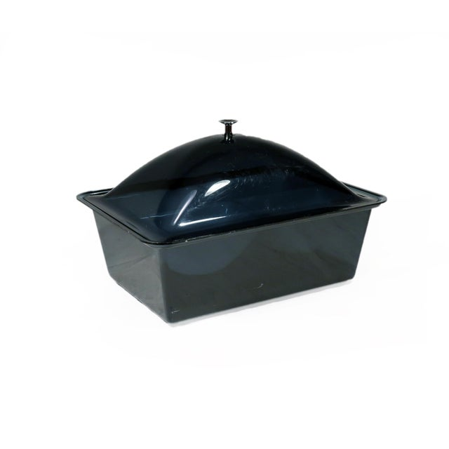 Acrylic Smoked Acrylic Ice Bucket and Cold Food Server For Sale - Image 7 of 7