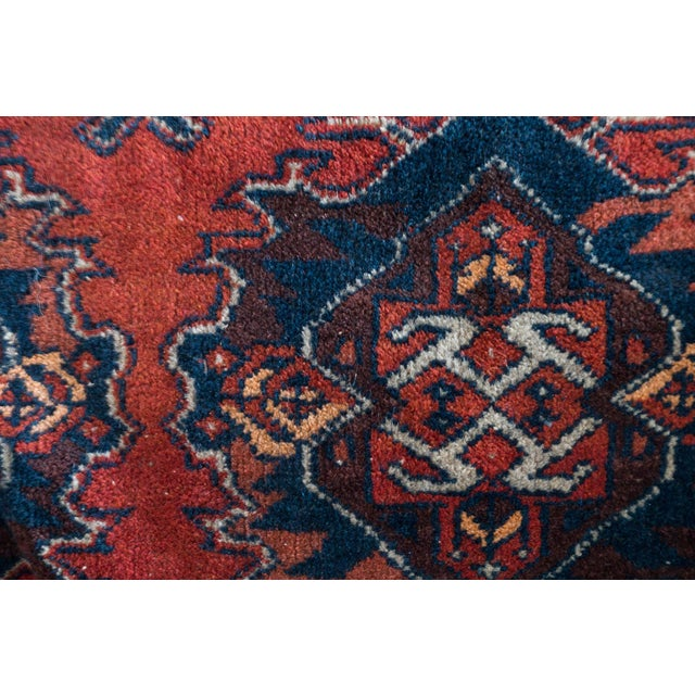 Blue Vintage Persian Carpet Rug - 3′12″ × 6′2″ For Sale - Image 8 of 9
