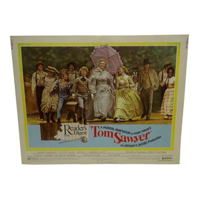 "Vintage Movie Poster A Musical Adaptation of Mark Twains ""Tom Sawyer"" 1973 For Sale"