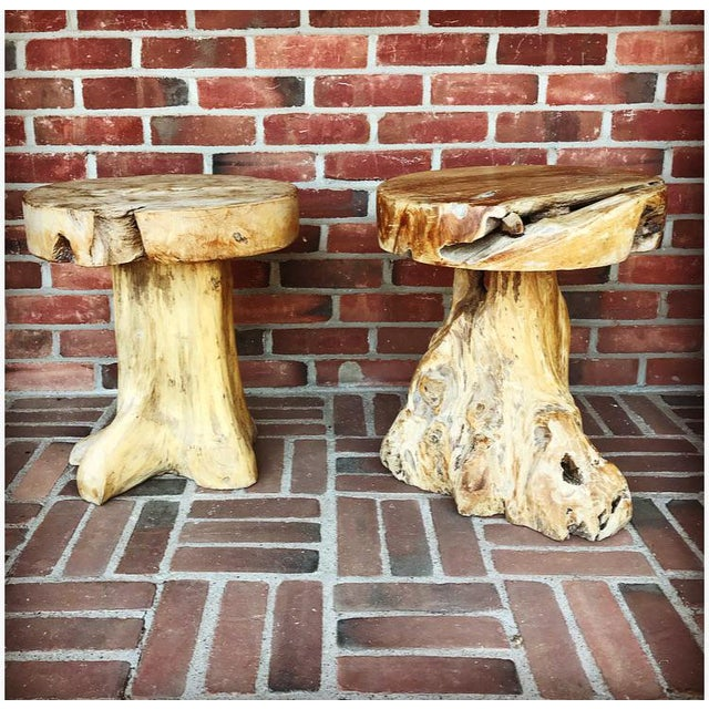 Natural, live edge elements add organic beauty to any setting. Work wonderfully in any room Indoors or Outdoors. Priced...