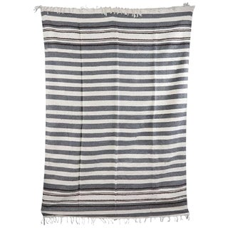 20th Century Mexican Wool Blanket 'ThrowithRug' From the Yucantan For Sale