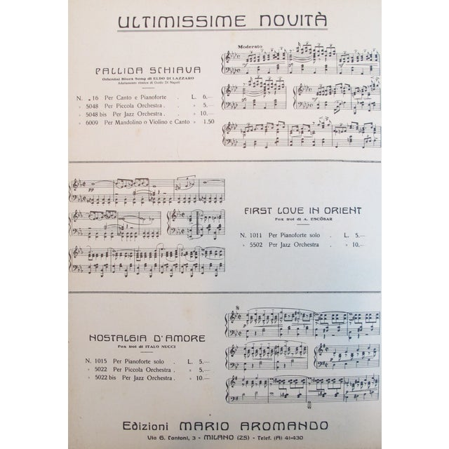 1925 Italian Music Sheet La Sabotiere For Sale - Image 4 of 6