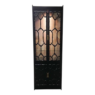 Black Faux Bamboo Cabinet