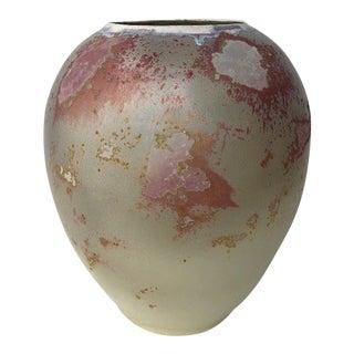 1980s Tony Evans Raku Pottery Vase For Sale