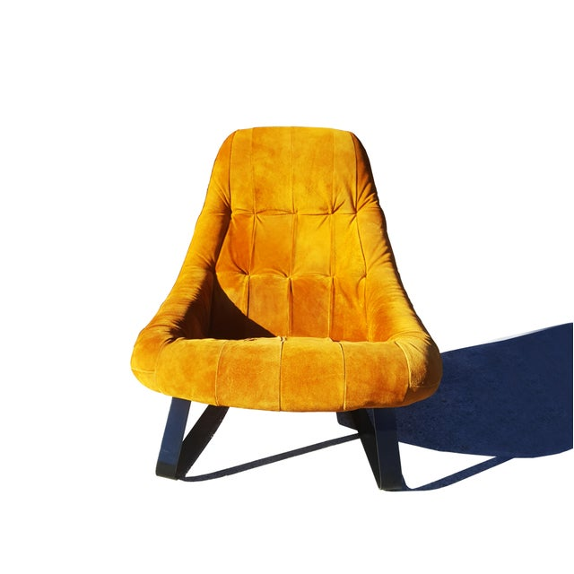 Animal Skin Mid-Century Modern Percival Lafer Brazilian Space Age Earth Lounge Chair and Ottoman For Sale - Image 7 of 9