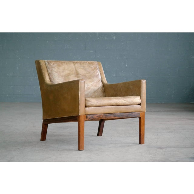 Kai Lyngfeldt Larsen Easy Chair Model 39 Leather Rosewood for Søren Willadsen For Sale - Image 11 of 11