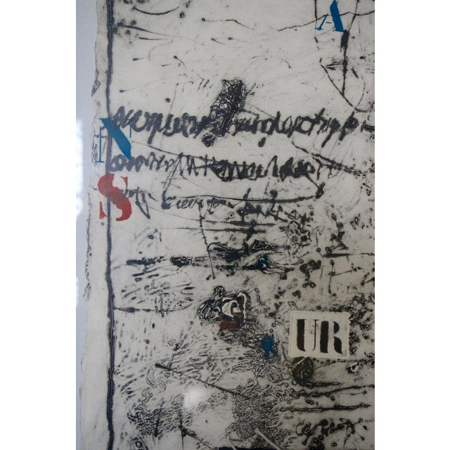 """Vintage James Coignard Mixed Media Etching Lithograph """"Ea"""" Artist Proof For Sale - Image 10 of 12"""