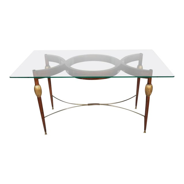 Mid-Century Modern Italian Cocktail Table in the Style of Gio Ponti, circa 1945 For Sale