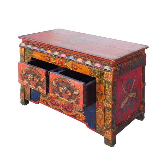 Chinese Tibetan Treasure Motif Small Cabinet - Image 5 of 6