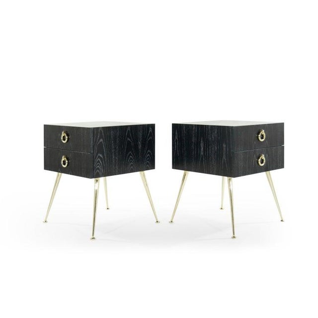 Mid-Century Modern Gibby Collection End Tables in Limed Oak For Sale - Image 3 of 13