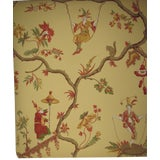 "Image of Schumacher Williamsburg Reserve ""Jester Caprice"" Wallpaper Rolls - Set of 13 For Sale"
