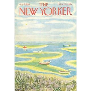 Vintage 1965 New Yorker Cover, August 7 (Ilonka Karasz), Seashore For Sale