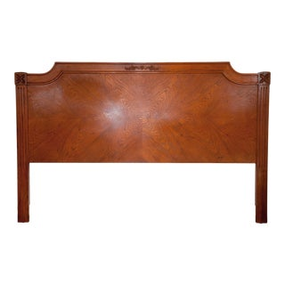 Vintage Traditional King Size Wood Headboard For Sale