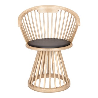Tom Dixon Fan Dining Chair in Natural For Sale