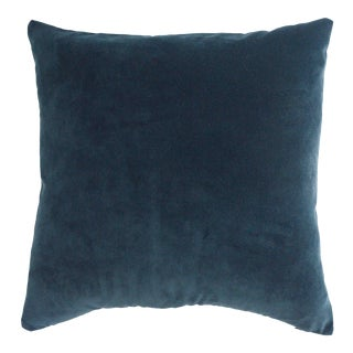 FirmaMenta Italian Dark Blue Velvet Pillow For Sale