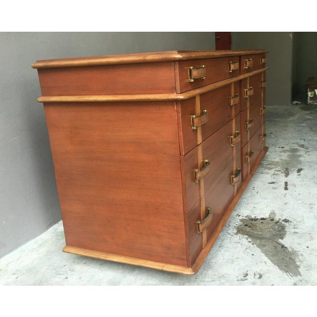 Mid-Century Modern 1950s Mid-Century Modern Johnson Brothers Paul Frankl Station Wagon Series Double Chest - P For Sale - Image 3 of 11