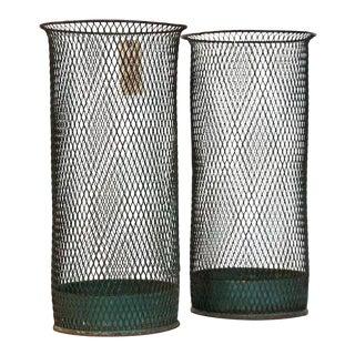 Metal Waste Bins - a Pair