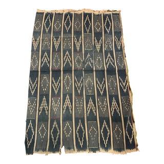 Modern Blue Indigo Textile For Sale