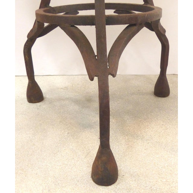 Wrought Iron Bistro Table W/ a Stone Top For Sale - Image 4 of 6