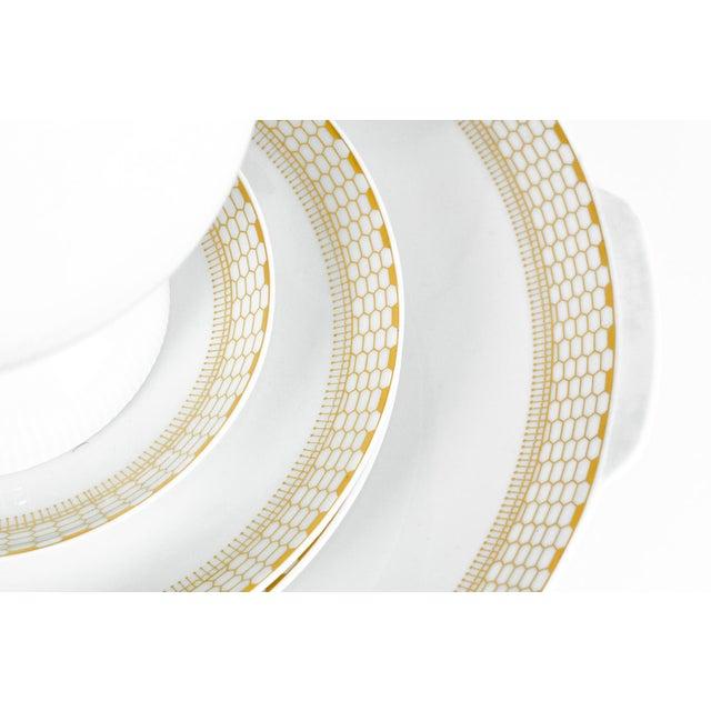 Gold Art Deco German Porcelain Luncheon Tea & Coffee Set For Sale - Image 8 of 9