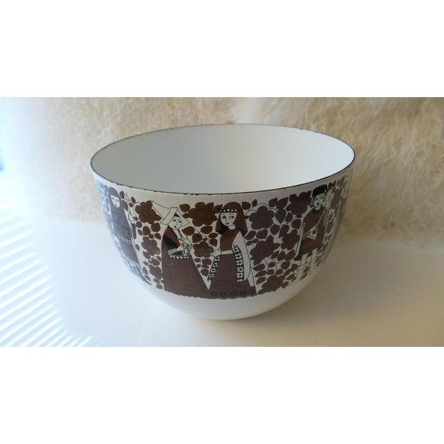 Arabia Kaj Franck for Arabia Finland Enamel Metal Bowl For Sale - Image 4 of 11