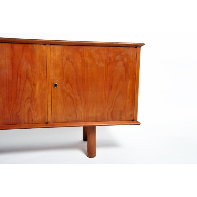 French Mid-Century Modern Walnut Veneer Sideboard For Sale - Image 9 of 13