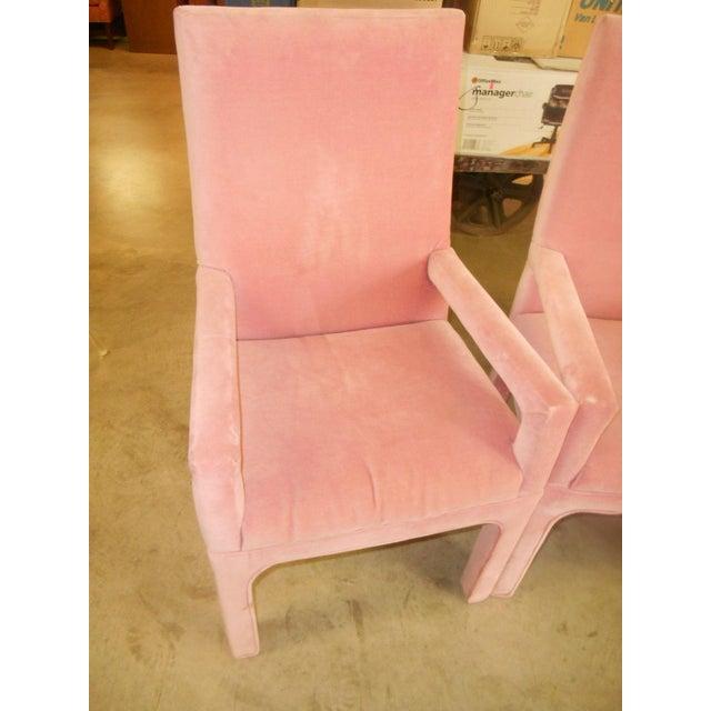 Parsons Dining Chairs in Desert Rose Velvet - Set of 4 - Image 4 of 4