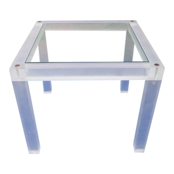 1970s Vintage Space Age Lucite Card Table For Sale