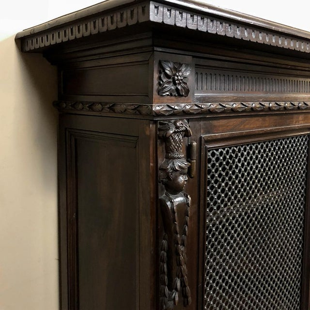 19th Century Italian Neoclassical Walnut Barrister's Bookcase For Sale - Image 9 of 12