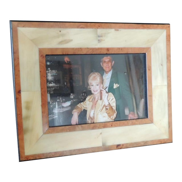Authentic Gucci Inlaid Wood Picture Frame For Sale