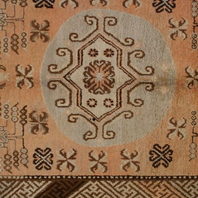 Early 20th Century Early 20th Century Central Asian Samarghand Carpet - 4′8″ × 8′9″ For Sale - Image 5 of 5