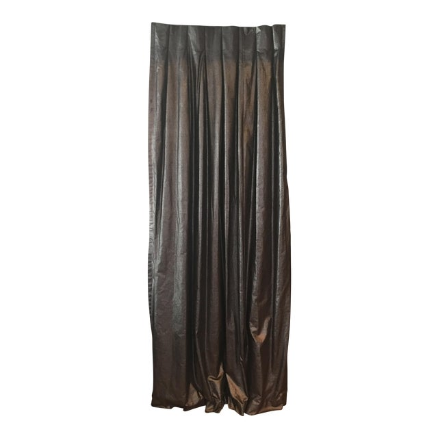 Metallic Charcoal & Bronze Drapes - Set of 5 For Sale In Los Angeles - Image 6 of 6