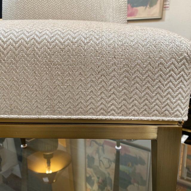 New Design Master Richfield Veranda Side Chair in Antique Bronze + Custom Upholstery For Sale - Image 12 of 13