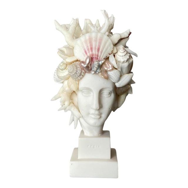 Contemporary Mini Shell-Encrusted Hygiea Head For Sale