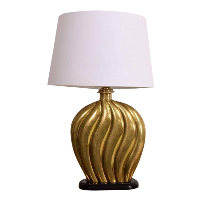 Hollywood Regency Brass Table Lamp For Sale