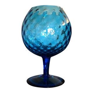 Italian Blue Glass Goblet For Sale