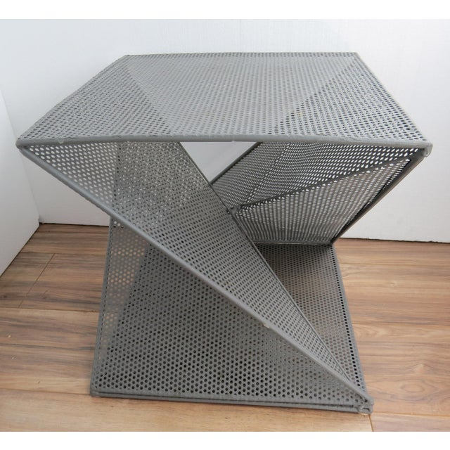 Gray 1950's Mathieu Matégot Geometric Side Tables - A Pair For Sale - Image 8 of 13