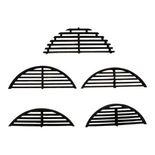 Antique Industrial Arched Foundry Patterns for Molds Handmade Wood – Group 3 For Sale