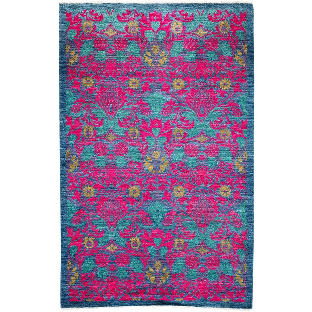 """Arts & Crafts Hand Knotted Area Rug - 4'9"""" X 7'9"""" For Sale"""