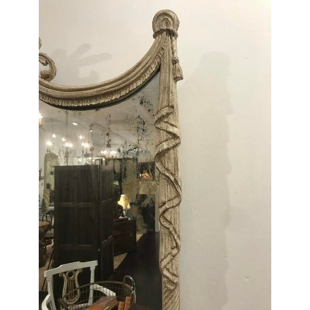 19th Century French Carved Swag and Tassel Mirror For Sale - Image 4 of 7